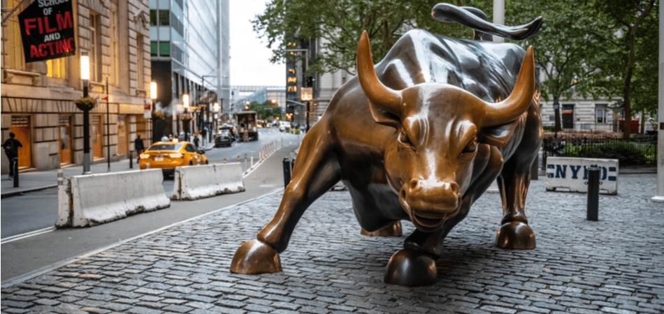 Charging bull Wall Street New York